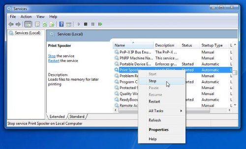 windows 10 how to delete a print job