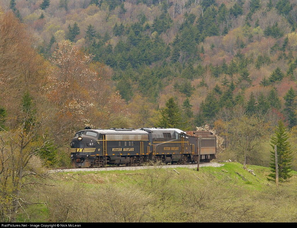 RailPictures.Net Photo: WM 67 West Virginia Central Railroad EMD FP7 at Spruce, West Virginia by Nick McLean