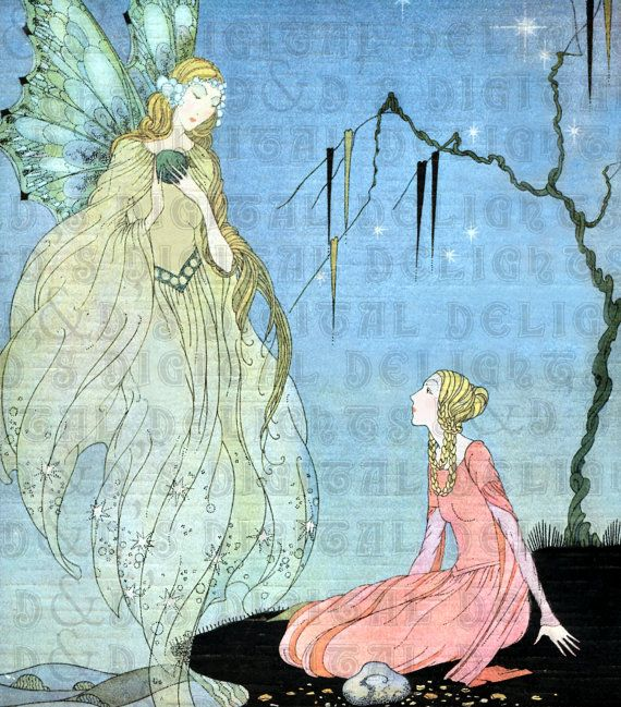 RARE. Princess and Godmother. Art DECO by DandDDigitalDelights, $1.99
