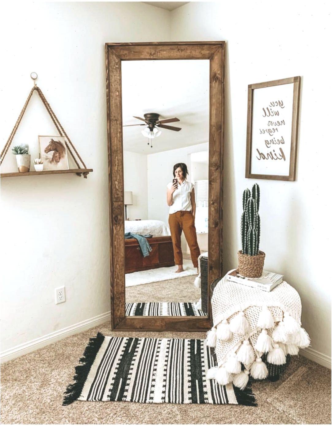 Mirror Wood Mirror Full Length Mirror Bedroom Master Bedroom Boho Farmhouse Schlafzimmer Bedroom Door Design Farmhouse Bedroom Decor Shelf Decor Bedroom