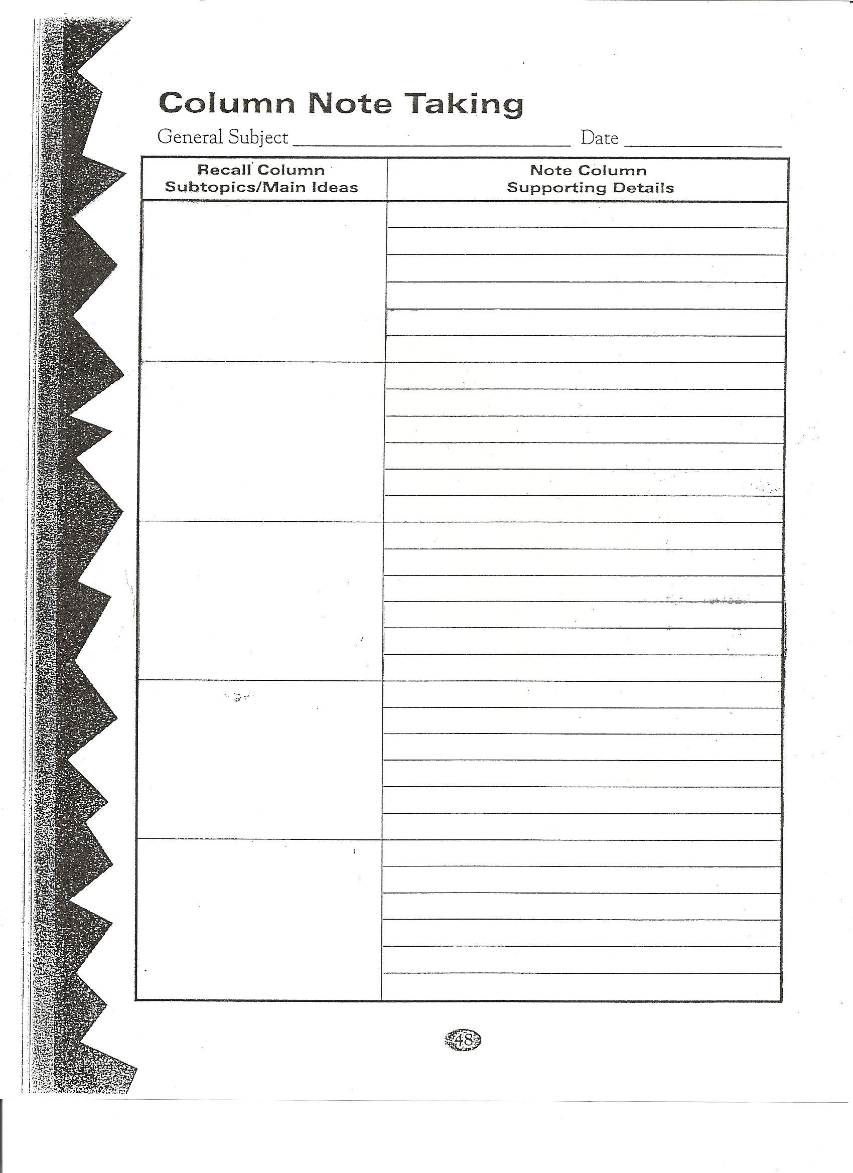 Image Result For 2 Column Notes Sheet With Images