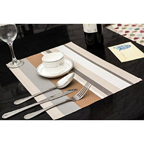 Placemats For Dining Table Heat Resistant Pvc Weave Placements
