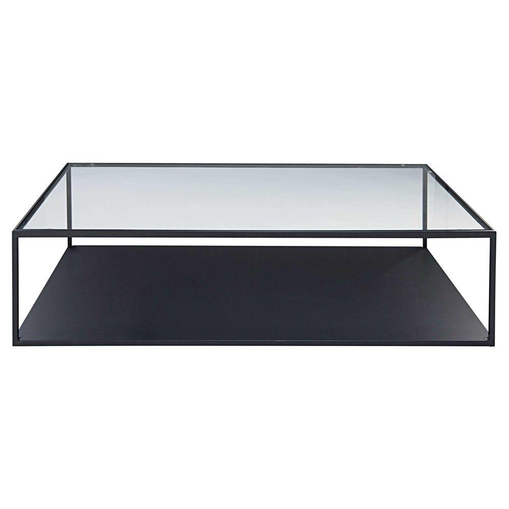 Table Basse Verre Metal