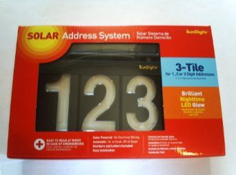 grande vente la moitié codes promo Amazon.com: Sundigits 3 Digit Solar LED House Number: Home ...