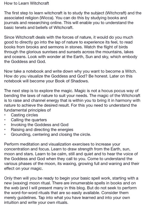 How to learn witch craft page 1 | What is magic and how does