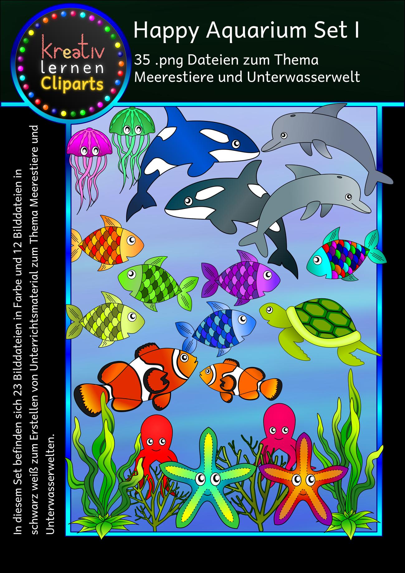 Meerestiere und Pflanzen - Clip arts für Unterrichtsmaterial und ...