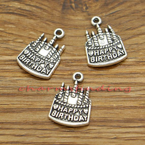 20pcs Happy Birthday Charms Happy Birthday Cake by charmsfinding