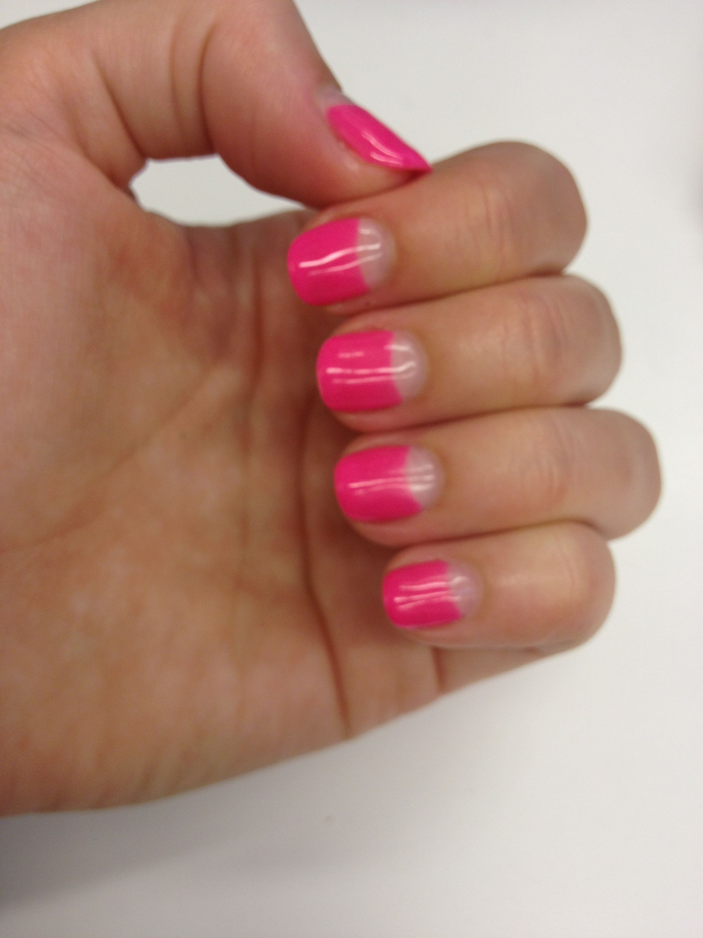 Reverse French nails | Nail Art | Pinterest | French, Nails and ...