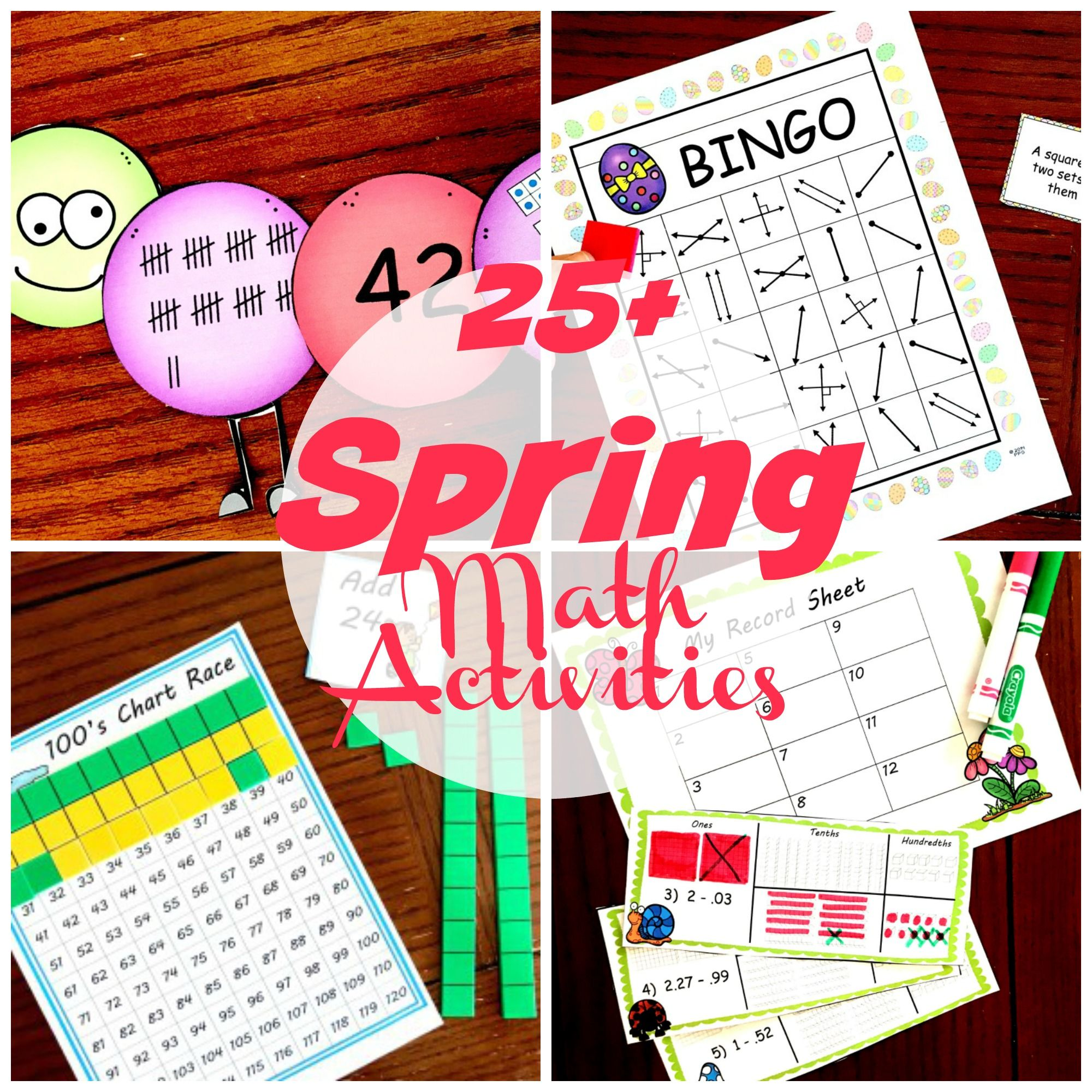 25 Free Spring Math Worksheets Games Activities And More