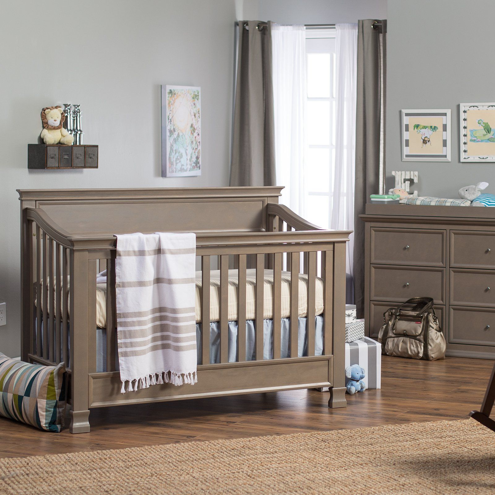 Crib Toddler Bed Daybed Full Size Bed All In One Solid Wood