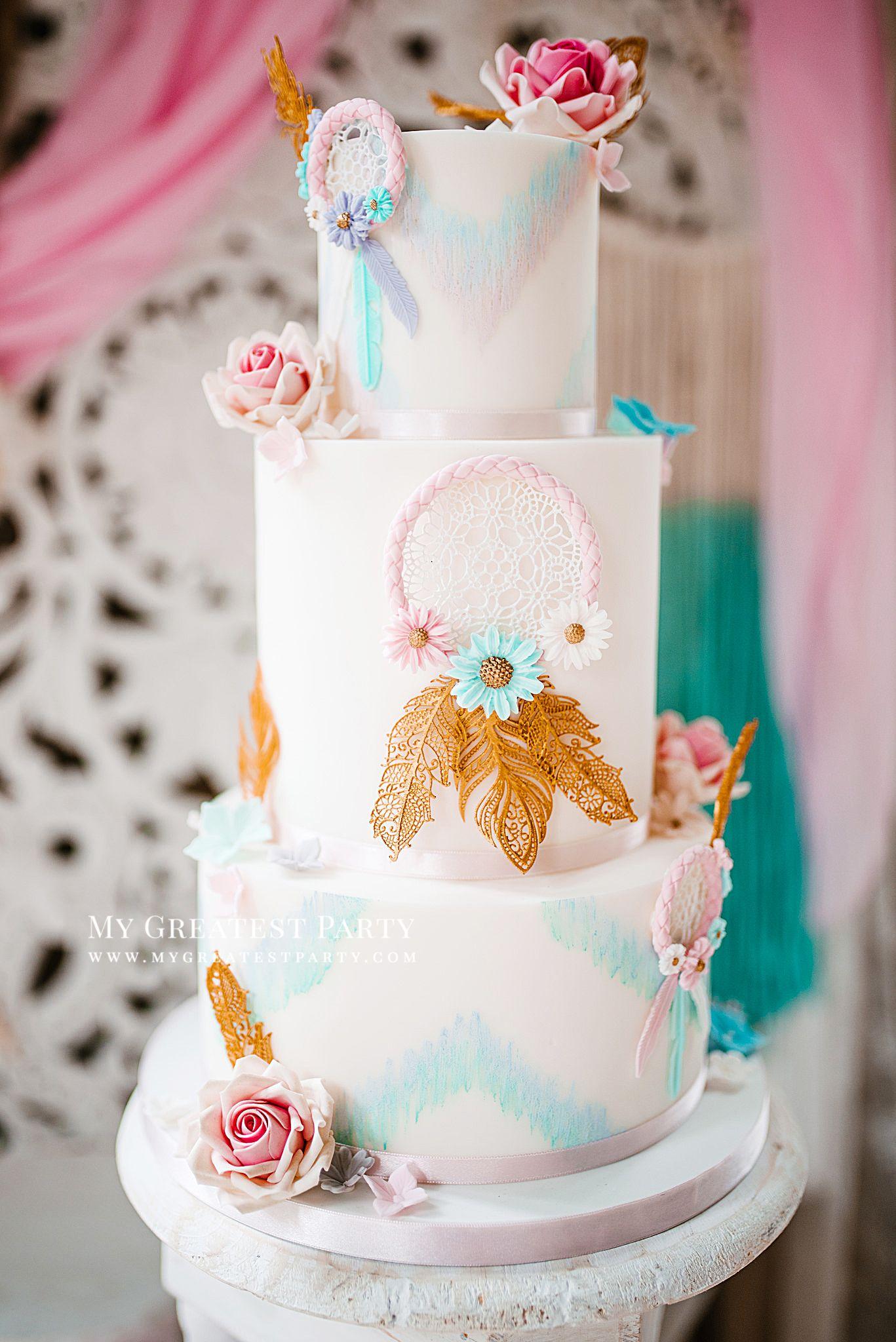 Babyshower Bohemian Bohemian Babyshower Bohemian Babyshower Theme Pastel Colors Babyshower In Pastel Cake