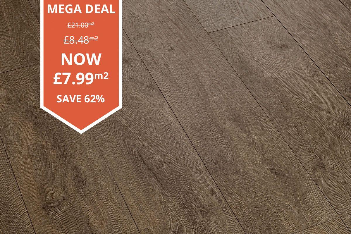 Mega Deal 8mm Laminate Flooring Lazio Oak