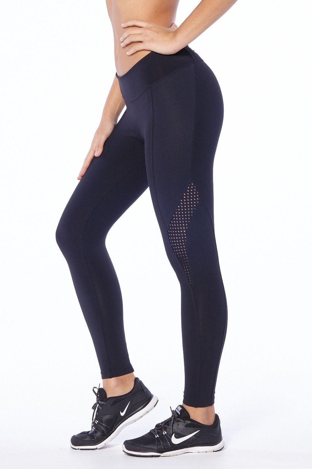 114e75d2311825 These athletic leggings with perforated detailing are the the best fitting  running pants in town! Ideal to go from the track, to anywhere the day  might take ...