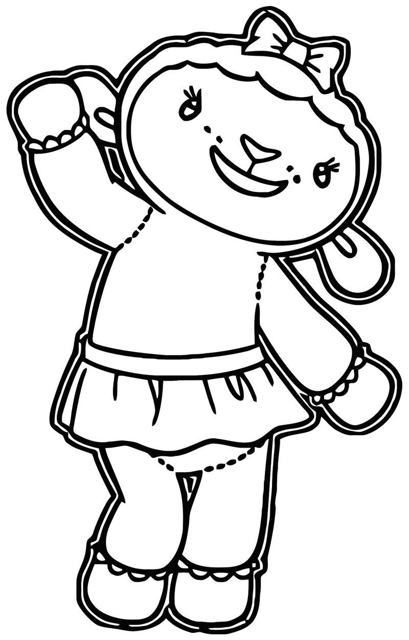 Lambie Cartoon Coloring Page Cartoon Coloring Pages Santa Coloring Pages Doc Mcstuffins Coloring Pages