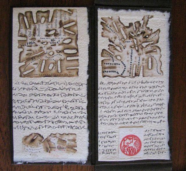 Memorie burlée, libro de artista de Gerard Brennel
