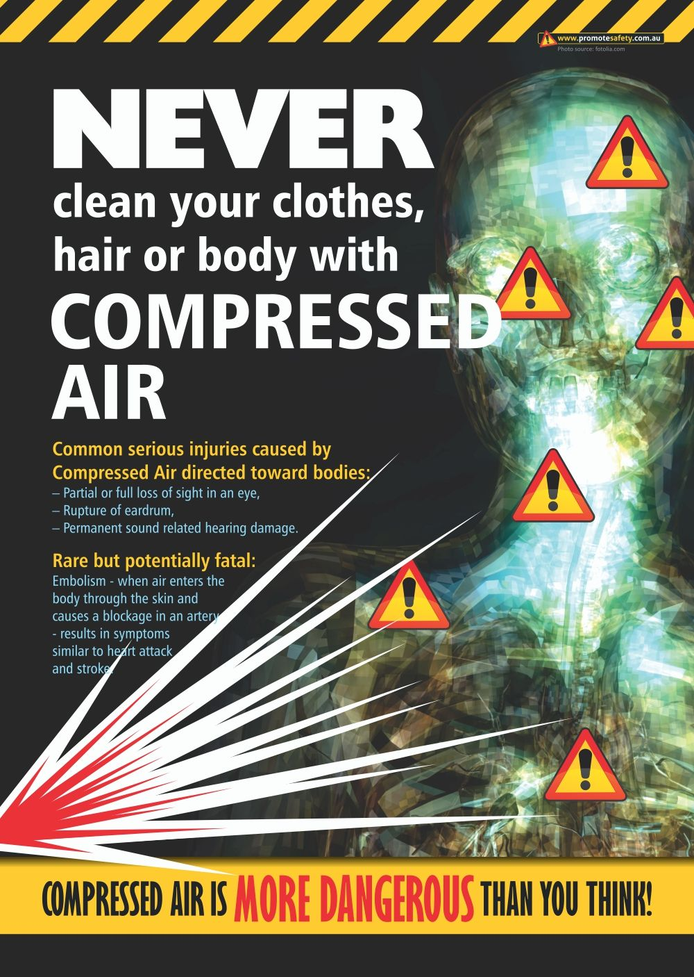 Compressed air doesn't seem dangerous, which is why so
