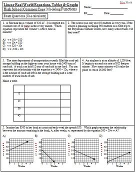 Real World Application Of Linear Equations
