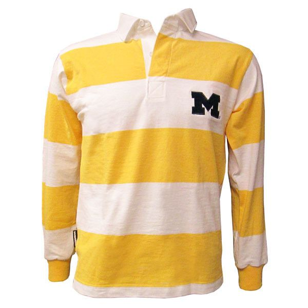 UM Barbarian Casual Weight Rugby Polo - White/Yellow