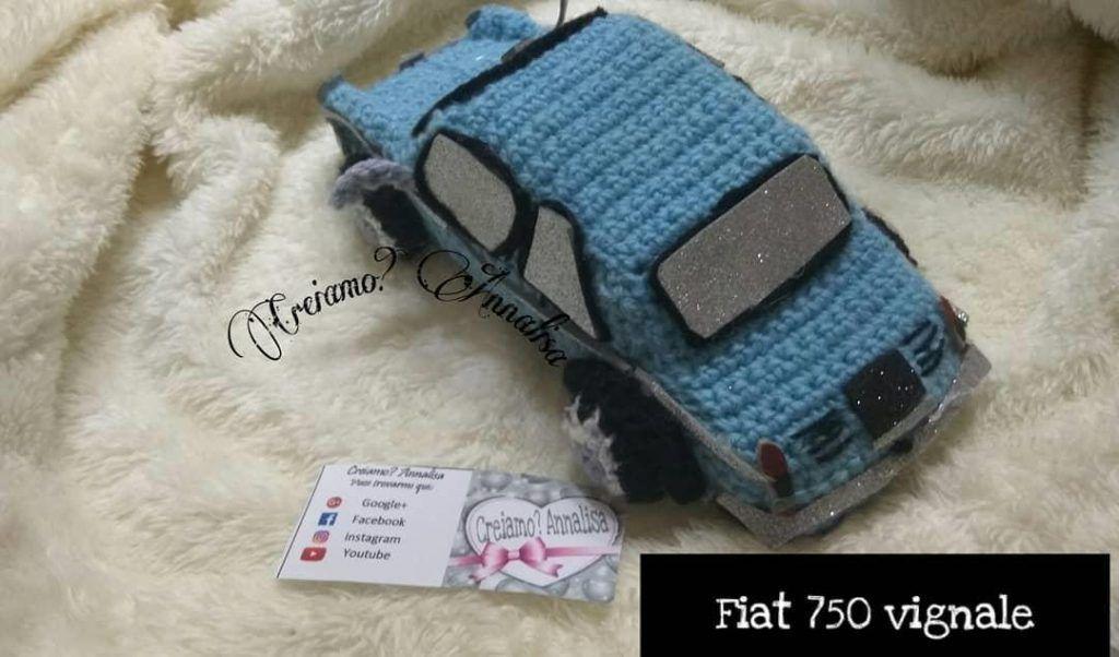Amigurumi pattern for the blue Bentley crochet car | 602x1024