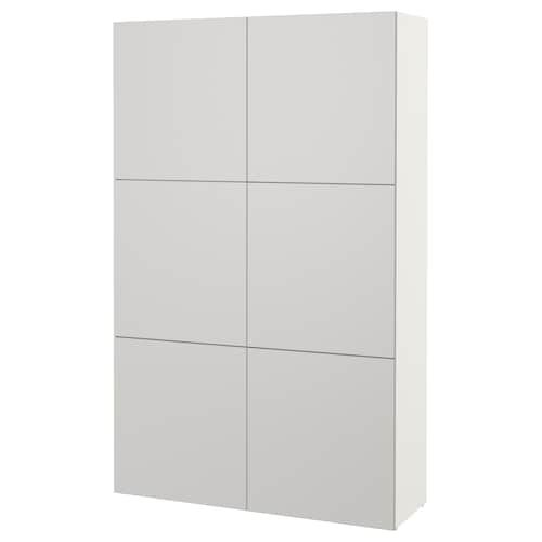 Besta Aufbewahrung Mit Turen Weiss Lappviken Hellgrau Ikea Deutschland Idee Ikea Ikea Arredamento Ingresso