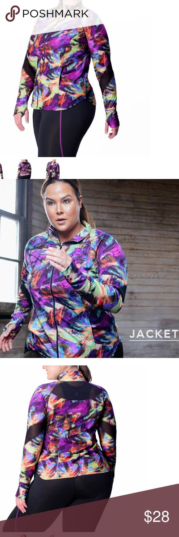 Euc plus size athletic jacket Plus size, Athletic jacket