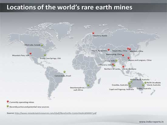 Ppt slide showing locatations of worlds rare earth mines on the ppt slide showing locatations of worlds rare earth mines on the world map gumiabroncs Images