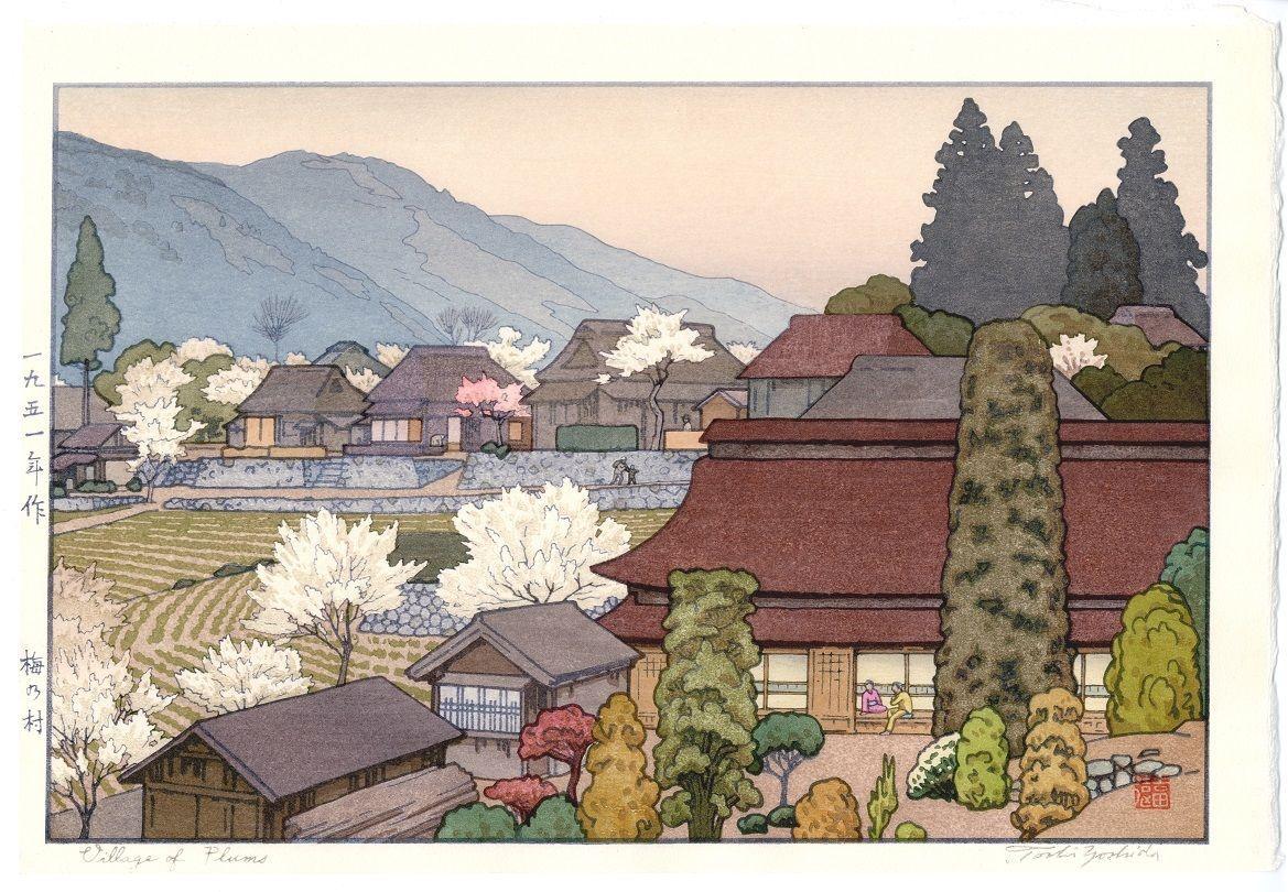 Toshi Yoshida - Ume no Mura (Village of Plums)