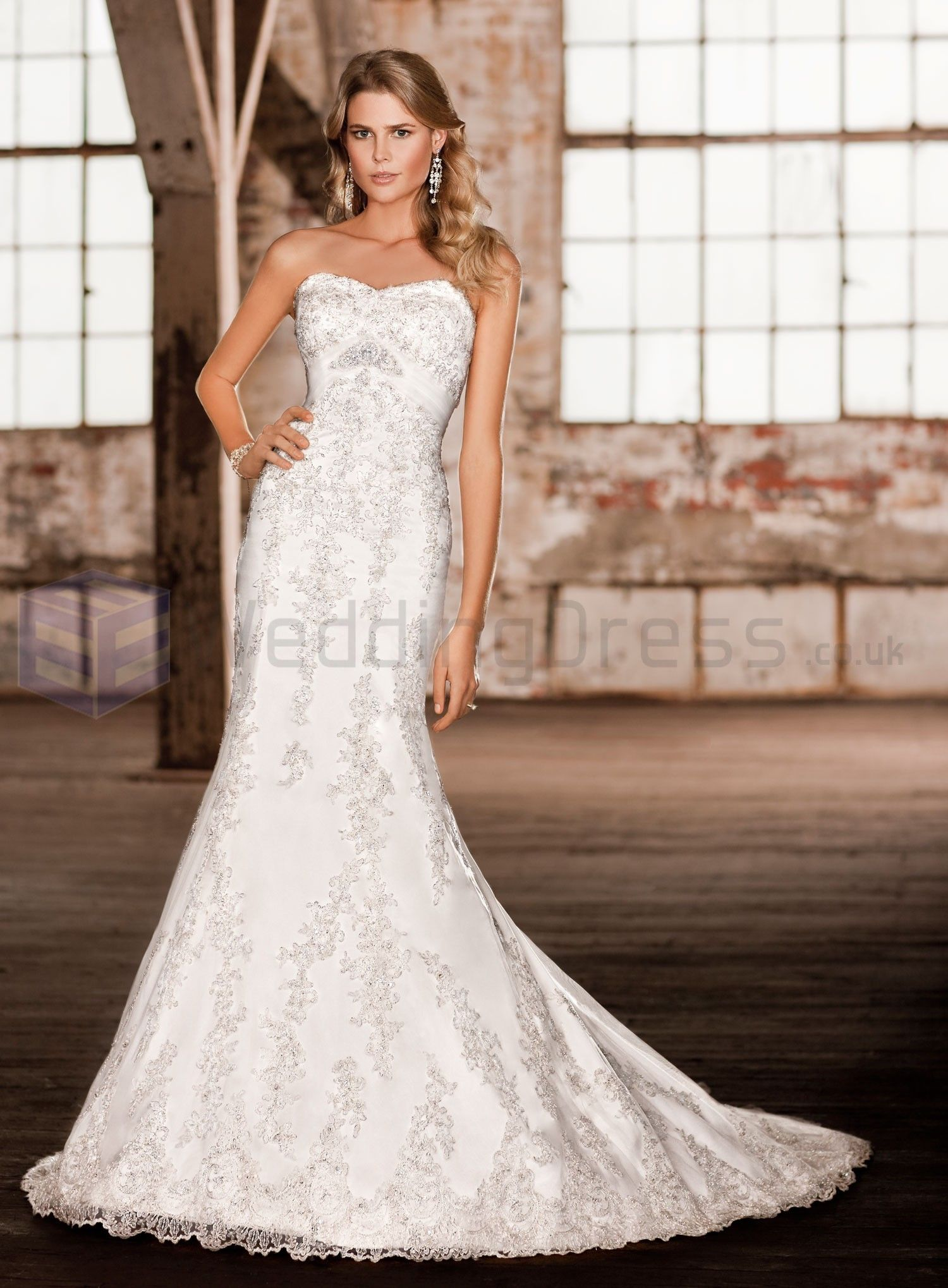Lace And Satin Wedding Dresses