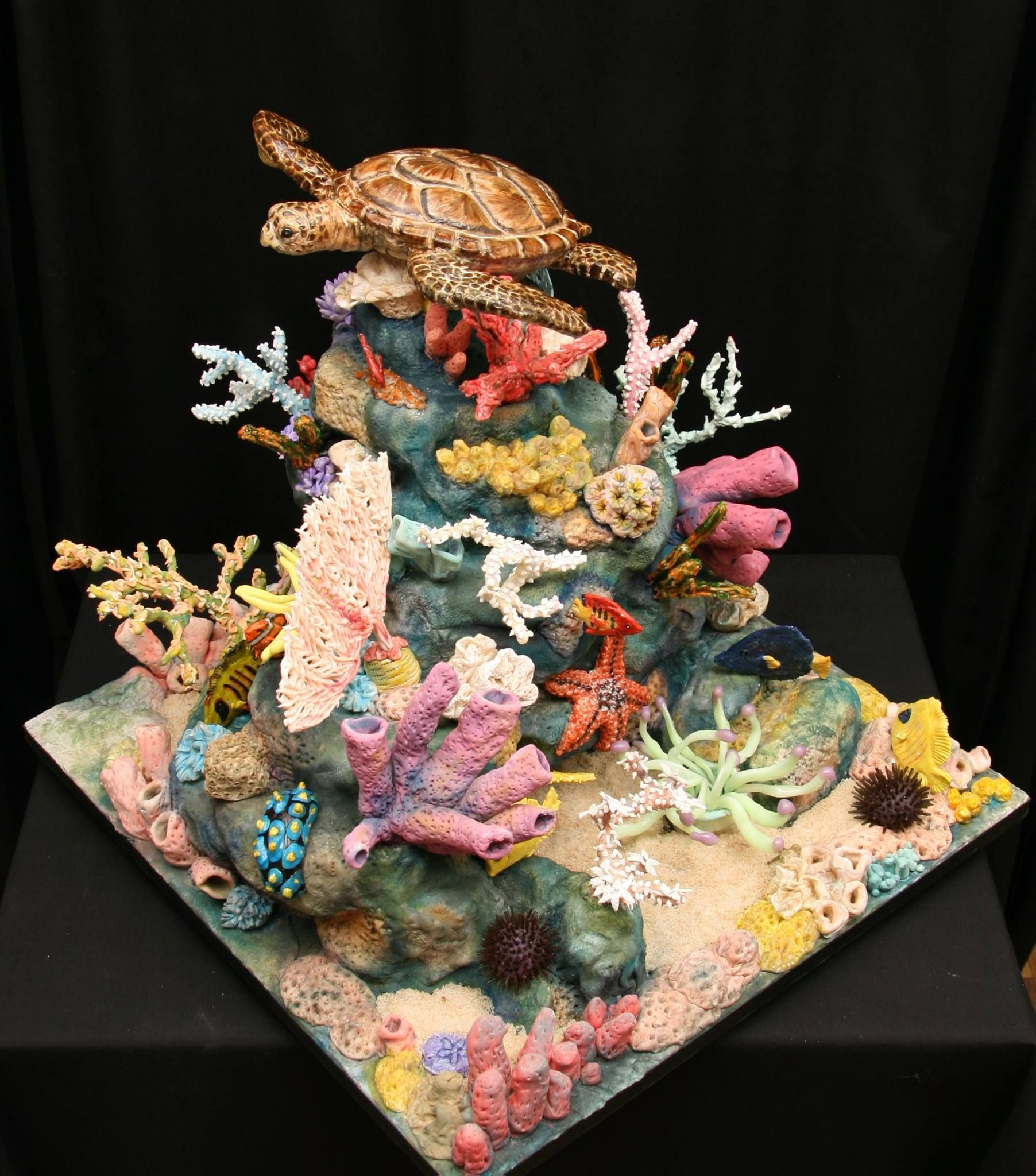 Cake And Sugar Sea Scape By The Food Artist Group S Kim Simon Turtle C
