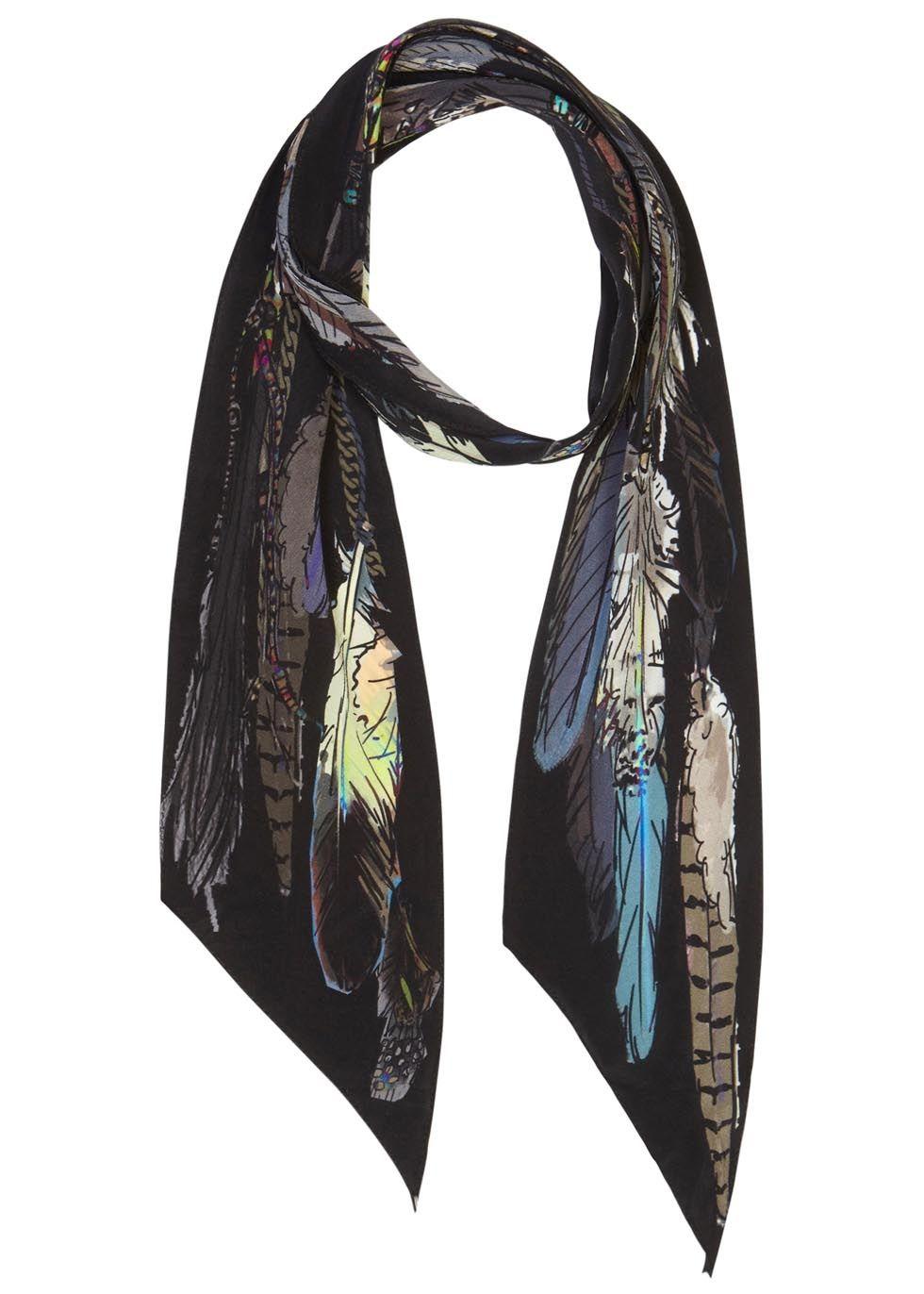 ROCKINS multicoloured silk georgette scarf Printed Presented in a designer-stamped box 100% silk