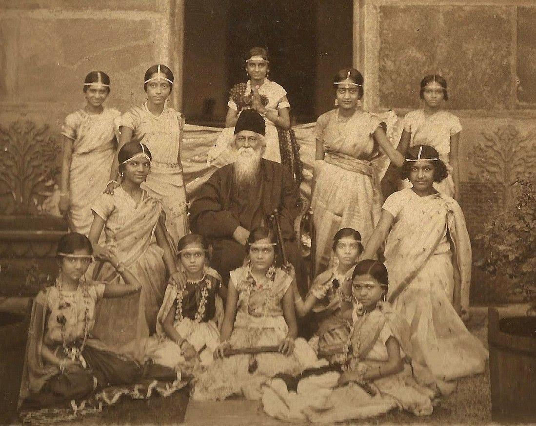 rabindranath tagore documentary by satyajit ray rabindranath tagore group of girls in costume for a drama performance