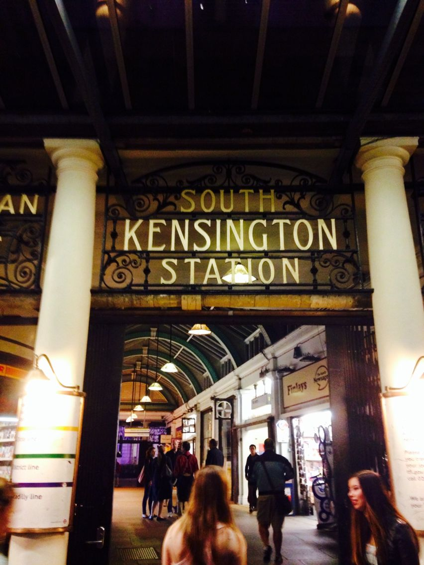 South Kensington tube station; London