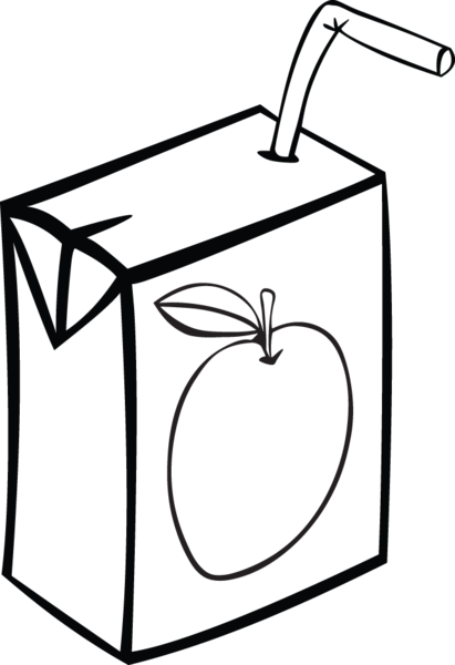 358RA - Apple juice box | Clipart images, Vector clipart and Ephemera