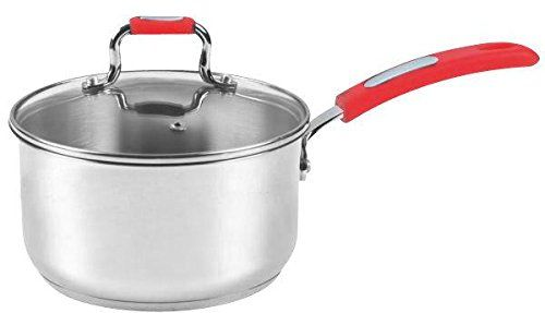 Europware 013014sp Stainless Steel 1 Quart Sauce Pan With Glass Lid Small Silverred For More Information Visit Image Li Cookware Set Saucepan Ceramic Hobs