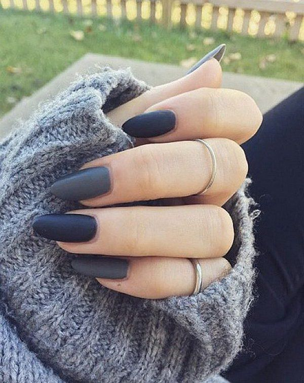 Discover Ideas About Grey Matte Nails