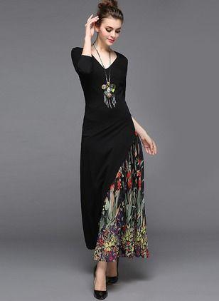 16a6ea5ee Polyester Floral 1033009 1033009 Sleeves Maxi Elegant Dresses (1033009)    floryday.com