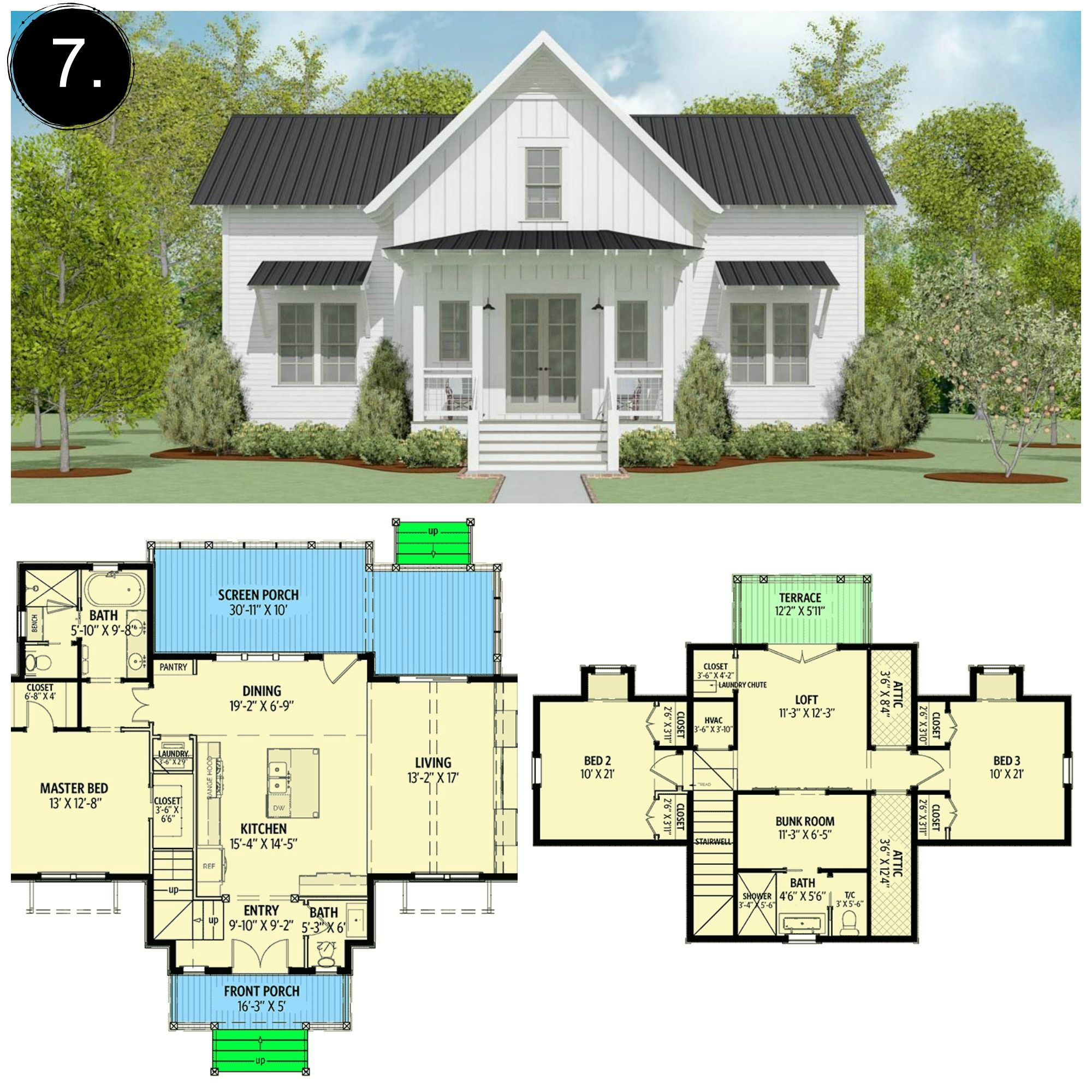 10 Floor Plans Under 2 000 Sq Ft Rooms For Rent Blog In 2020 Farmhouse Plans Cottage Floor Plans Cottage Plan