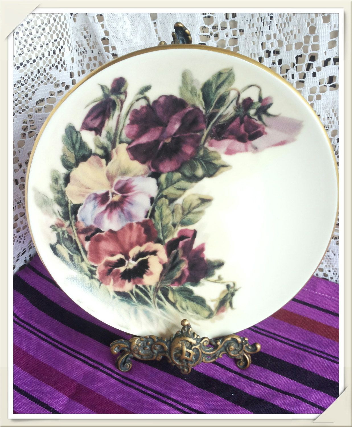 Vintage Retro Arabia Finland/ Riikka Hautamäki Pansies Collectable Wall  Hanging Plate By PawhillTreasures On Etsy