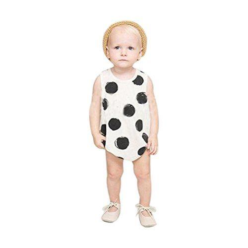 68e7dcb37 FEITONG Baby Boys Girls Polka Dot Romper Jumpsuit Bodysuit Clothes ...