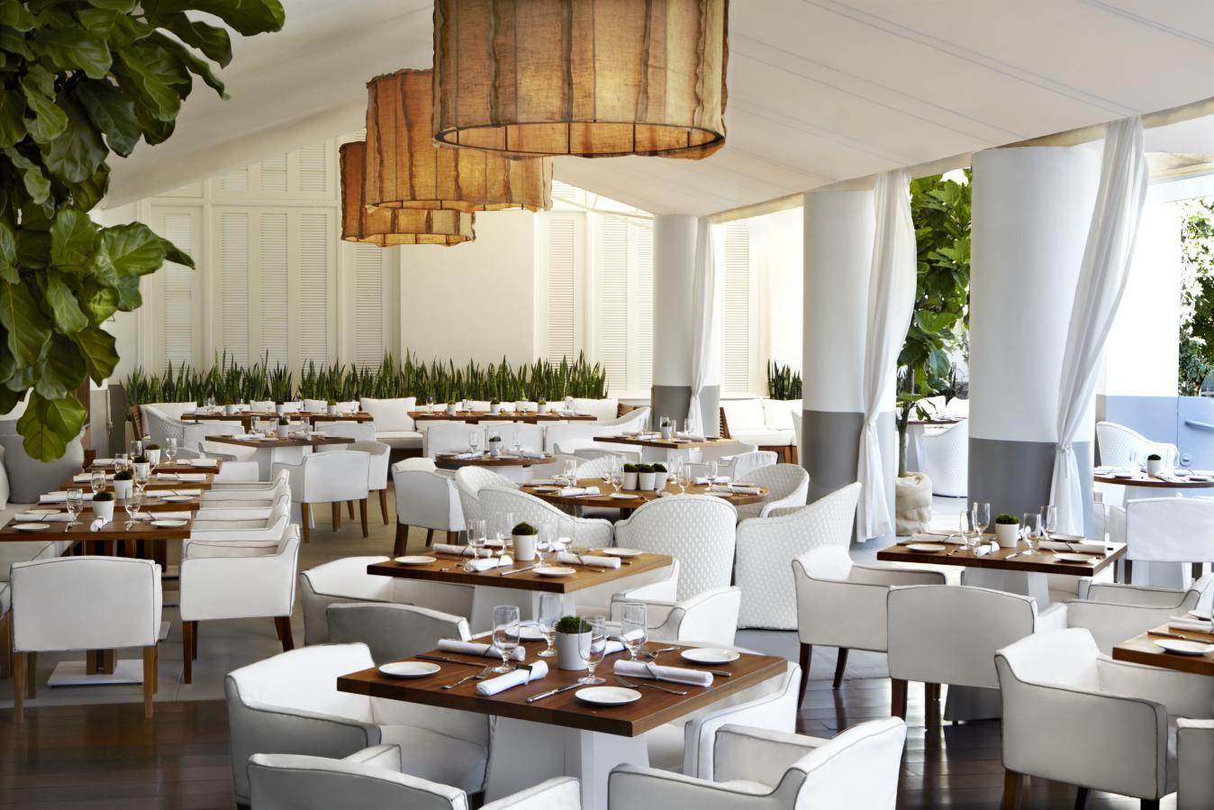 bianca at the delano hotel in miami beach - simple clean elegant