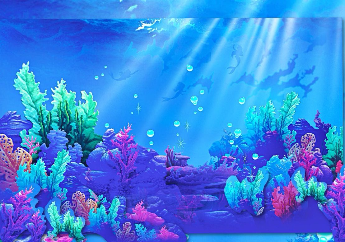 Ocean Floor Collage Little Mermaid Play Movies Disney Mermaids