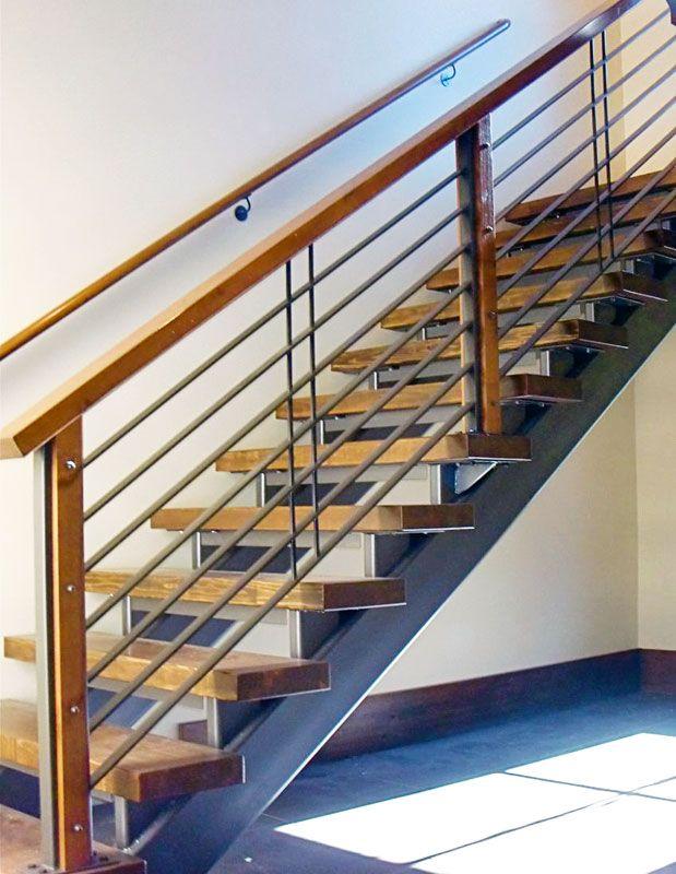 Railing Design Metal And Wood Combo Railing Design Wood Posts