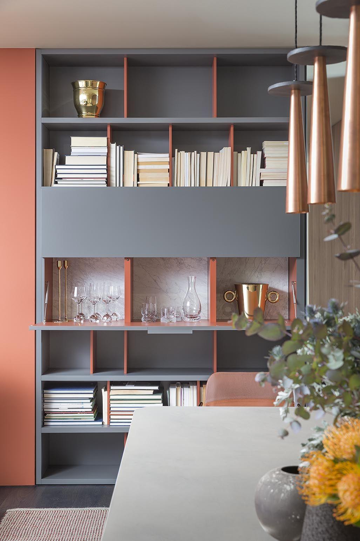 people composizione rovere grigio e laccato opaco cielo; mono ... - Tavolino Laccato Company