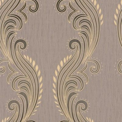 Tiffany Mocha (39024) - Albany Wallpapers - An embossed trailing design with a soft sheen embroidered stitch effect on a stipple effect textured background. Shown here in mocha. Other colour ways and coordinating papers available. Please request a sample for true colour match.