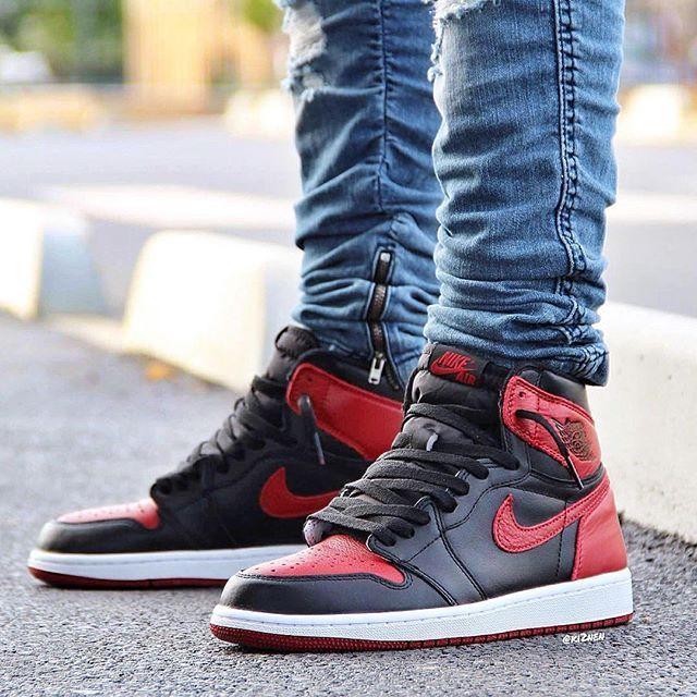 What did you wear today?  Air Jordan 1 u0026#39;Banned / Bredu0026#39;  @ki2nen #WDYWT for on-feet photos # ...