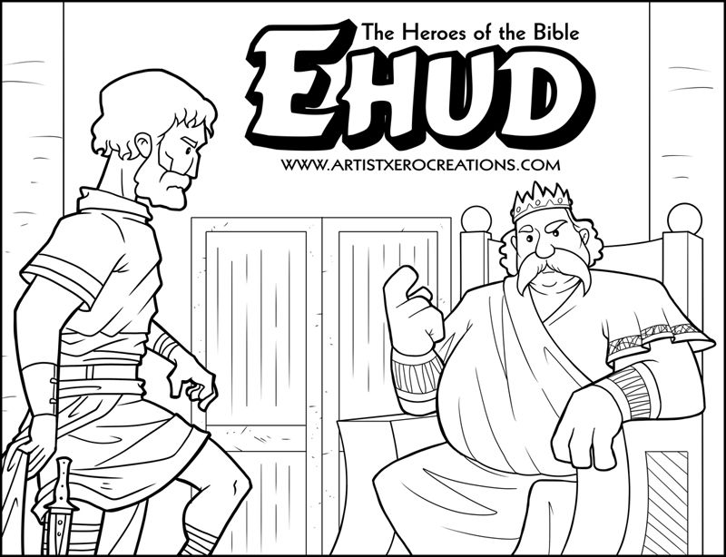 Free Heroes Of The Bible Coloring Page Bible Coloring Pages