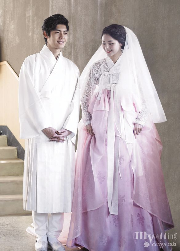 lovely Korean bride and elegant groom, MYWEDDING 담연 이혜순 한복은 ...