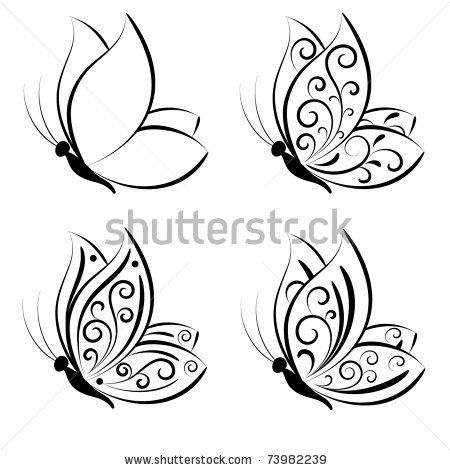 Photo of Butterfly Vector Set Stock Vector (Royalty Free) 73982239