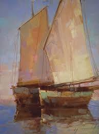 Resultado de imagen para boat oil painting