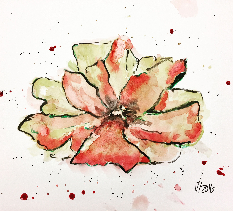 Fleurs A L Aquarelle Par Veronique Leonard Quebec Levis